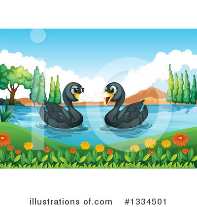 Swan Clipart #1334501 by Graphics RF