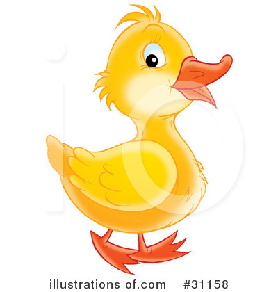 Royalty-Free (RF) Duck Clipart Illustration by Alex Bannykh - Stock