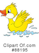 Duckling Clipart #1129672 - Illustration by Alex Bannykh