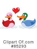 Royalty-Free (RF) Ducks Clipart Illustration #85293