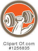 Dumbbell Clipart #1256835 by patrimonio
