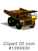 Royalty-Free (RF) dump truck Clipart Illustration #1069930