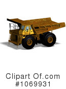 Royalty-Free (RF) dump truck Clipart Illustration #1069931