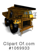 Royalty-Free (RF) dump truck Clipart Illustration #1069933