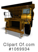 Royalty-Free (RF) dump truck Clipart Illustration #1069934