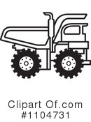 Royalty-Free (RF) dump truck Clipart Illustration #1104731
