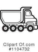 Royalty-Free (RF) dump truck Clipart Illustration #1104732