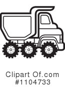 Royalty-Free (RF) dump truck Clipart Illustration #1104733