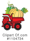 Royalty-Free (RF) dump truck Clipart Illustration #1104734