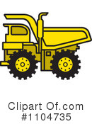 Royalty-Free (RF) dump truck Clipart Illustration #1104735