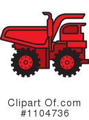 Royalty-Free (RF) dump truck Clipart Illustration #1104736