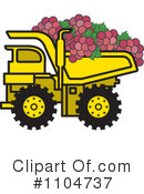 Royalty-Free (RF) dump truck Clipart Illustration #1104737