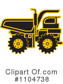 Royalty-Free (RF) dump truck Clipart Illustration #1104738
