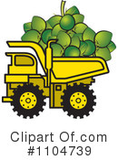 Royalty-Free (RF) dump truck Clipart Illustration #1104739