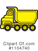 Royalty-Free (RF) dump truck Clipart Illustration #1104740