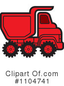 Royalty-Free (RF) dump truck Clipart Illustration #1104741
