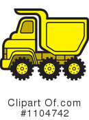 Royalty-Free (RF) dump truck Clipart Illustration #1104742