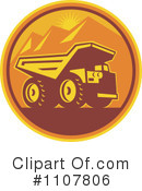 Royalty-Free (RF) dump truck Clipart Illustration #1107806