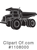 Royalty-Free (RF) dump truck Clipart Illustration #1108000
