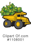 Royalty-Free (RF) dump truck Clipart Illustration #1108001