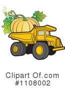 Royalty-Free (RF) dump truck Clipart Illustration #1108002