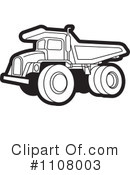 Royalty-Free (RF) dump truck Clipart Illustration #1108003