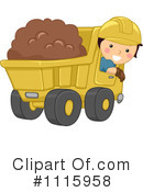 Royalty-Free (RF) dump truck Clipart Illustration #1115958