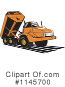Royalty-Free (RF) dump truck Clipart Illustration #1145700