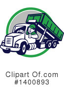Royalty-Free (RF) Dump Truck Clipart Illustration #1400893