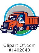 Royalty-Free (RF) Dump Truck Clipart Illustration #1402049