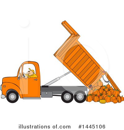 Royalty-Free (RF) Dump Truck Clipart Illustration by djart - Stock Sample #1445106