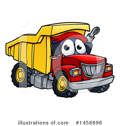 Dump Truck Clipart #1458896 by AtStockIllustration
