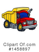 Dump Truck Clipart #1458897 by AtStockIllustration