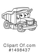 Dump Truck Clipart #1498437 by AtStockIllustration
