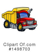 Dump Truck Clipart #1498703 by AtStockIllustration