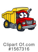 Dump Truck Clipart #1567316 by AtStockIllustration