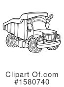 Dump Truck Clipart #1580740 by AtStockIllustration