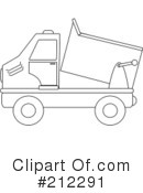 Royalty-Free (RF) dump truck Clipart Illustration #212291
