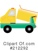 Royalty-Free (RF) dump truck Clipart Illustration #212292