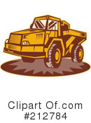 Royalty-Free (RF) dump truck Clipart Illustration #212784