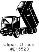 Royalty-Free (RF) dump truck Clipart Illustration #216520