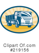 Royalty-Free (RF) dump truck Clipart Illustration #219156