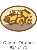 Royalty-Free (RF) dump truck Clipart Illustration #219173