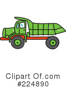 Royalty-Free (RF) dump truck Clipart Illustration #224890