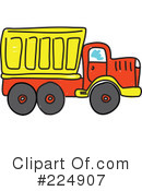 Royalty-Free (RF) dump truck Clipart Illustration #224907