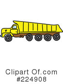 Royalty-Free (RF) dump truck Clipart Illustration #224908