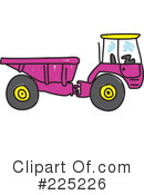 Royalty-Free (RF) dump truck Clipart Illustration #225226
