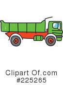 Royalty-Free (RF) dump truck Clipart Illustration #225265