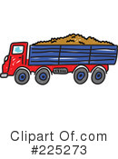Royalty-Free (RF) dump truck Clipart Illustration #225273
