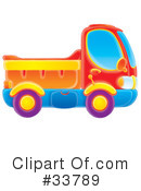 Royalty-Free (RF) dump truck Clipart Illustration #33789